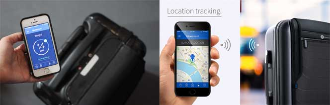 fonctionnalités valise connectée location et mesure poids
