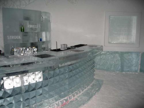 Ice bar in sweden