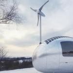 Ecocapsule dans la neige